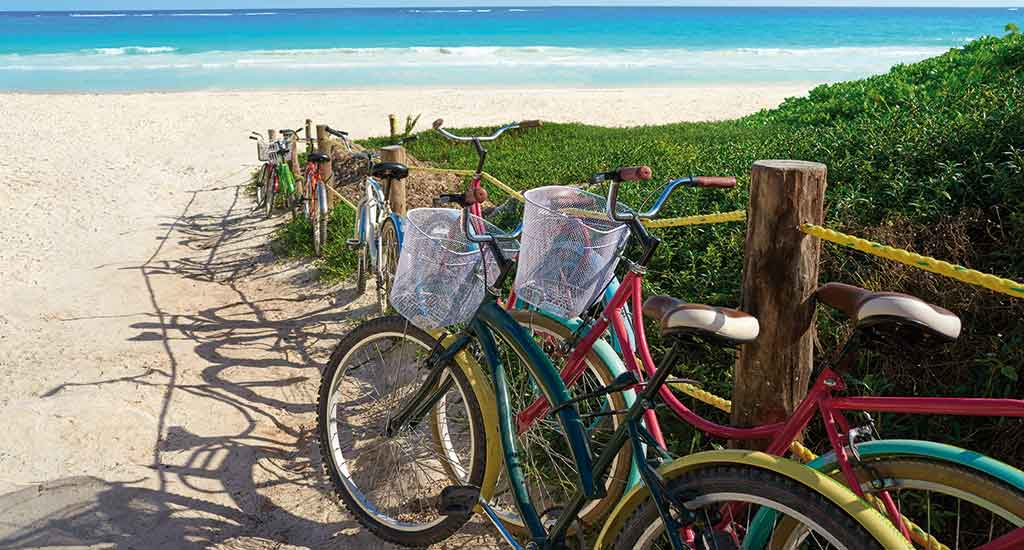 Bicycles in Tulum Mexico