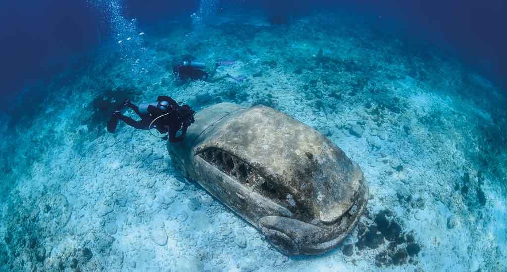 Underwater museum in Isla Mujeres Mexico