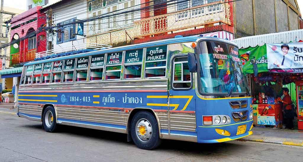 Bus in Phuket Thailand