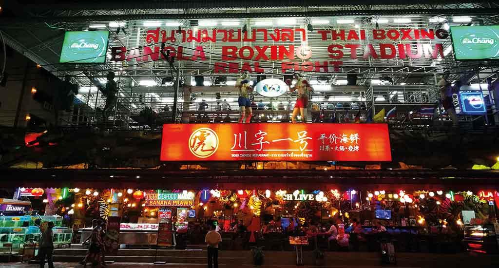 Boxing stadium in Phuket Thailand